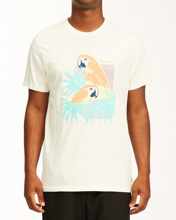 0 Scarlet Short Sleeve Wave Washed T-Shirt White ABYZT00130 Billabong
