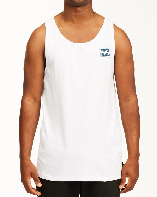 0 Crayon Wave Tank Top White ABYZT00142 Billabong