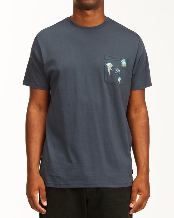 0 Team Wave Mini Pocket T-Shirt Blue ABYZT00147 Billabong