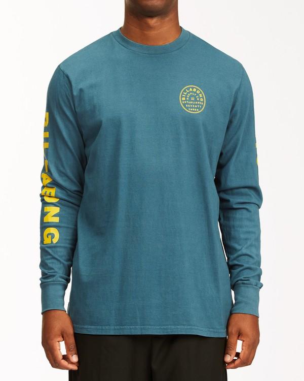 0 Harbor Long Sleeve Wave Washed T-Shirt Blue ABYZT00221 Billabong