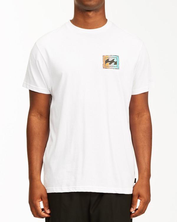 0 Crayon Wave Short Sleeve T-Shirt White ABYZT00235 Billabong
