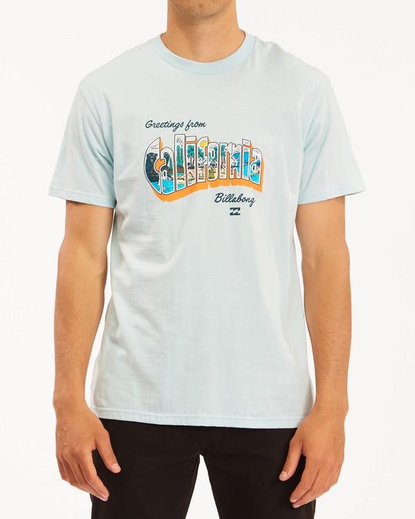 0 Greetings California Short Sleeve T-Shirt Blue ABYZT00351 Billabong