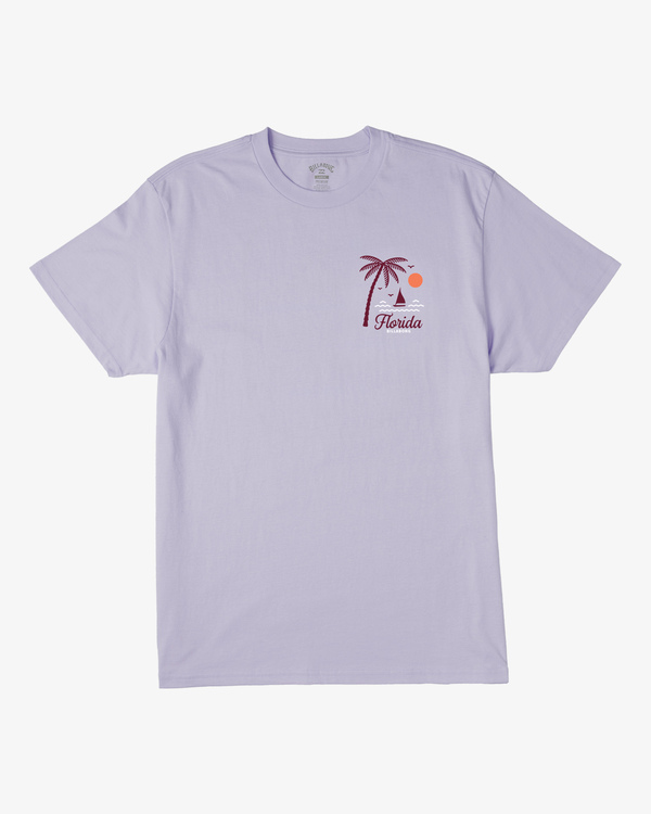 0 Daysailor Florida Short Sleeve T-Shirt Purple ABYZT00361 Billabong