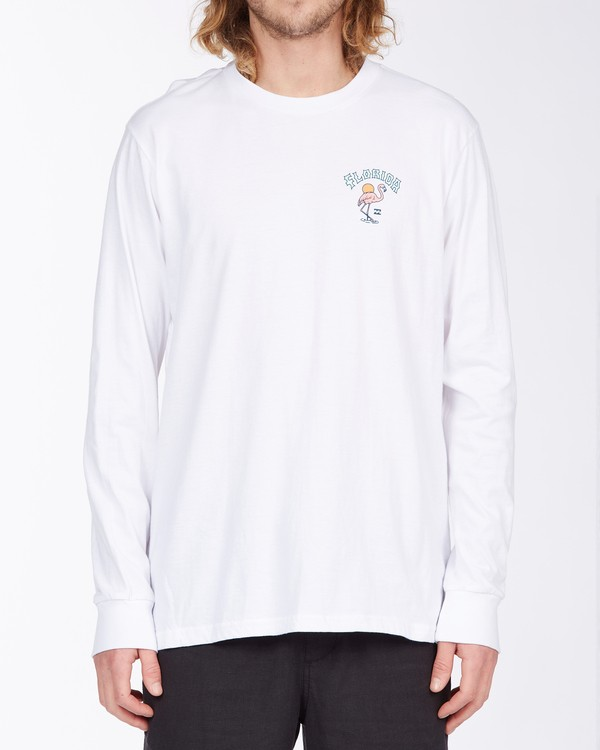0 Arch Florida Long Sleeve T-Shirt White ABYZT00367 Billabong