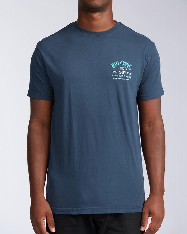 0 Pipe Masters Short Sleeve T-Shirt Blue ABYZT00376 Billabong