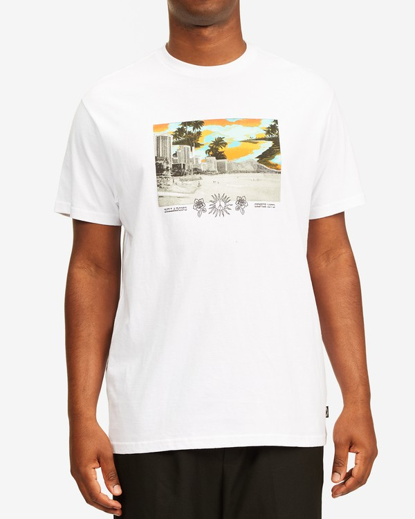 0 Waikiki Short Sleeve T-Shirt White ABYZT00392 Billabong