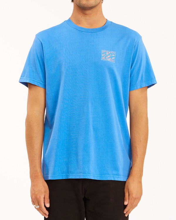 0 Crayon Wave Washed Short Sleeve T-Shirt Blue ABYZT00397 Billabong