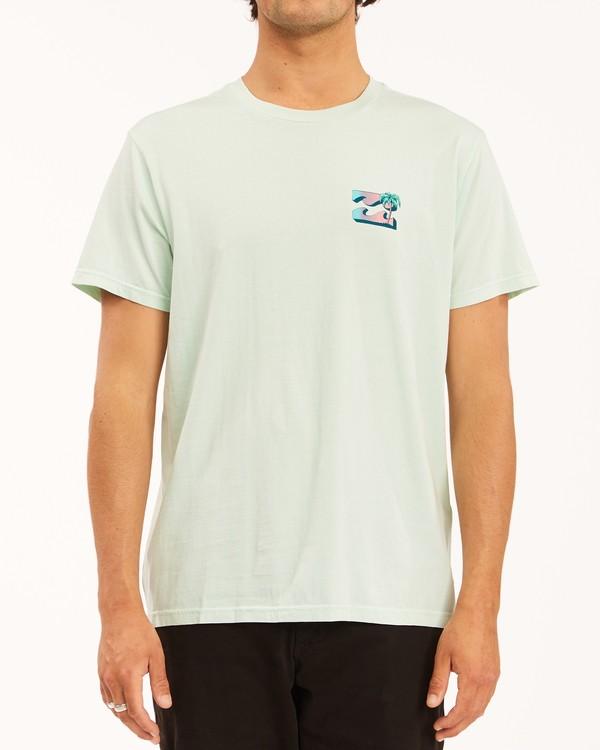 0 Crayon Wave Washed Short Sleeve T-Shirt Multicolor ABYZT00397 Billabong