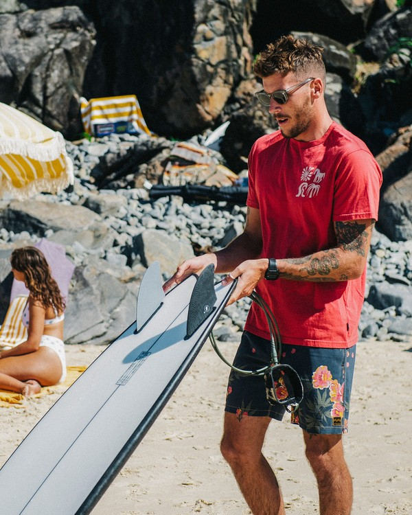 0 Wrangler Lands Short Sleeve T-Shirt Red ABYZT00573 Billabong