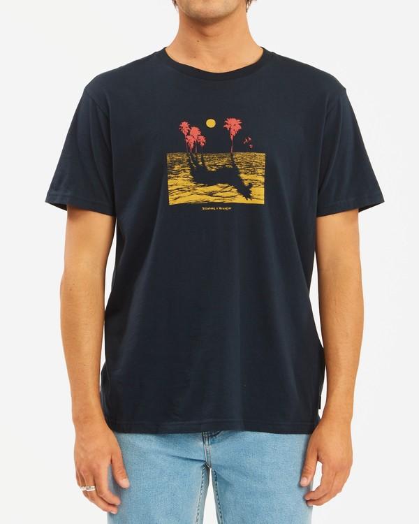 0 Wrangler Mirage Short Sleeve T-Shirt Blue ABYZT00574 Billabong