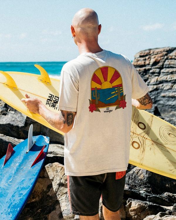 0 Wrangler Saguaro Short Sleeve T-Shirt White ABYZT00575 Billabong