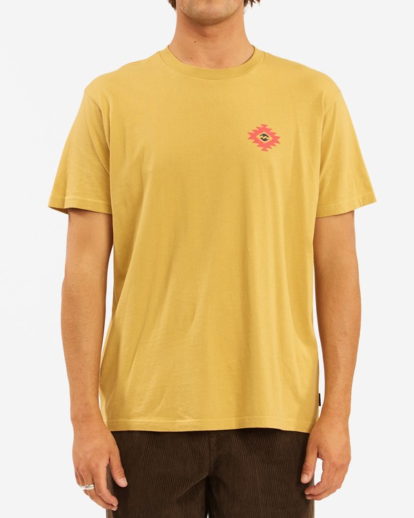0 Wrangler Eclipse Short Sleeve T-Shirt Beige ABYZT00576 Billabong
