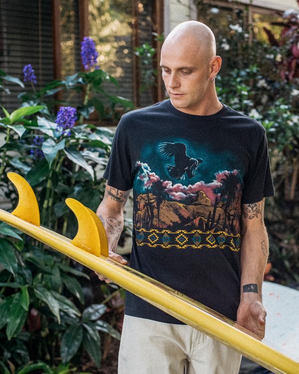 0 Wrangler Night Trip Short Sleeve T-Shirt Black ABYZT00577 Billabong