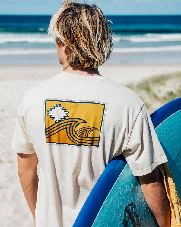 0 Wrangler Sandwave Short Sleeve T-Shirt White ABYZT00578 Billabong