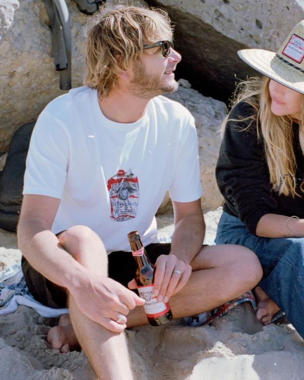 0 Budweiser Crusher Short Sleeve T-Shirt White ABYZT00587 Billabong