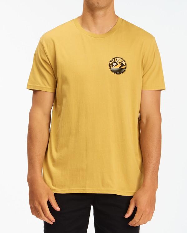 0 A/Div Rockies Short Sleeve T-Shirt Beige ABYZT00595 Billabong