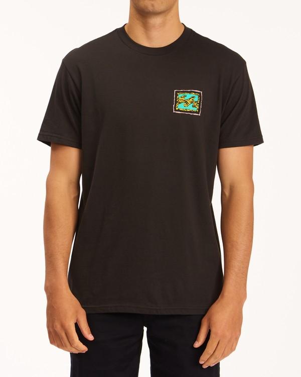 0 Crayon Wave Short Sleeve T-Shirt Black ABYZT00607 Billabong
