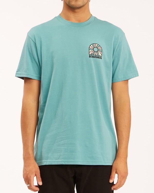 0 Arch Sun Short Sleeve T-Shirt Blue ABYZT00611 Billabong