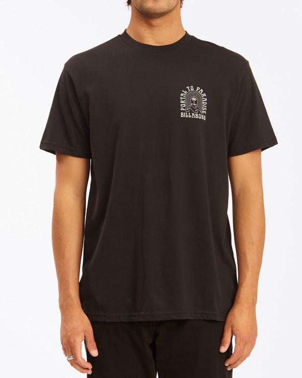0 Portal Short Sleeve T-Shirt Black ABYZT00613 Billabong