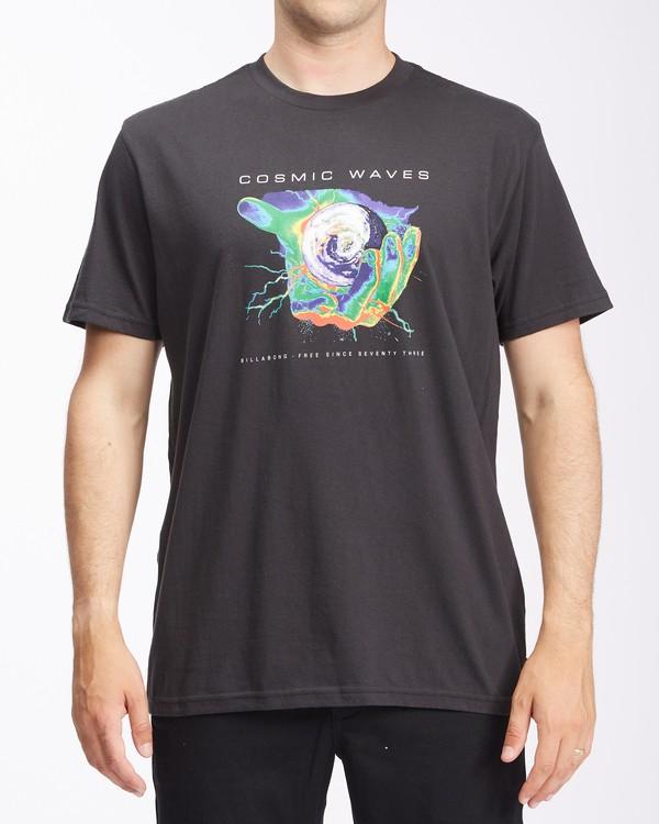 0 Cosmic Waves Short Sleeve T-Shirt Black ABYZT00616 Billabong