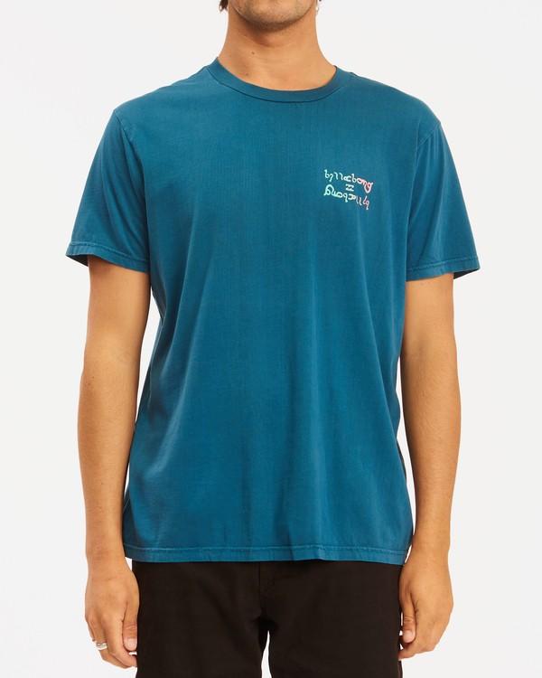 0 Moon Wave Washed Short Sleeve T-Shirt Blue ABYZT00624 Billabong
