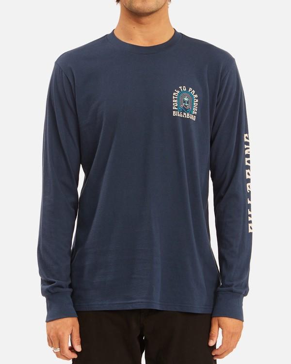 0 Portal Long Sleeve T-Shirt Blue ABYZT00627 Billabong