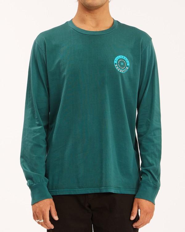 0 Rocker Wave Washed Long Sleeve T-Shirt Orange ABYZT00630 Billabong