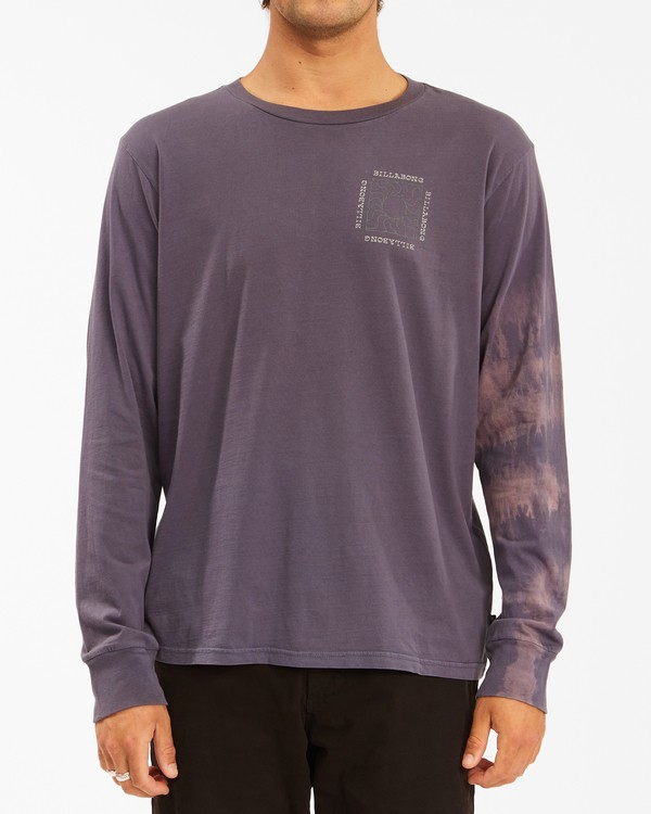 0 Sun Burn Tie-Dye Long Sleeve T-Shirt White ABYZT00632 Billabong
