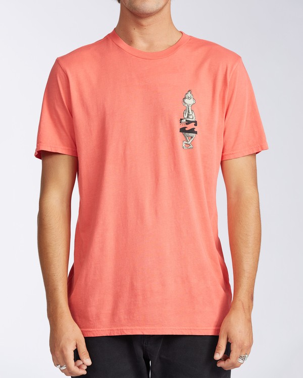 0 Shaka Grinch Short Sleeve T-Shirt Red ABYZT00638 Billabong