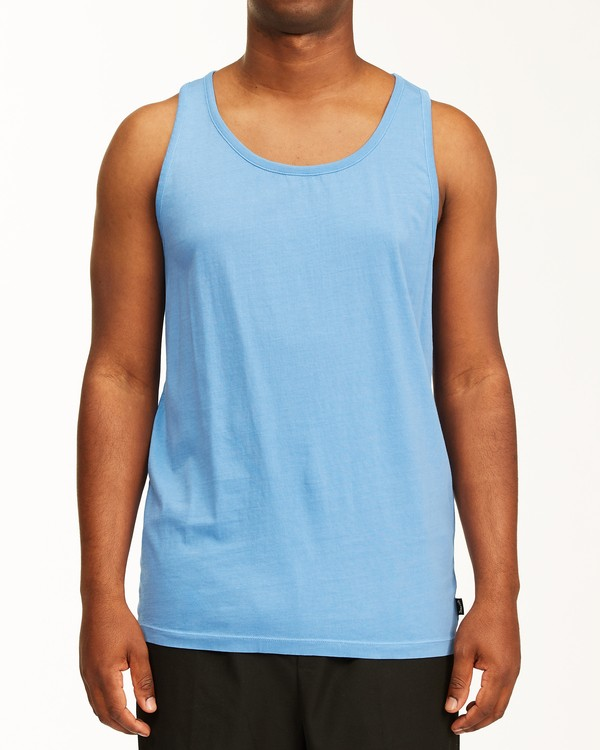 0 Essential Tank Wave Washed T-Shirt Blue ABYZT00654 Billabong