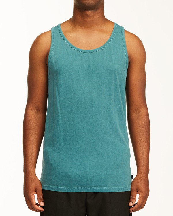 0 Essential Tank Wave Washed Tank Top Blue ABYZT00654 Billabong