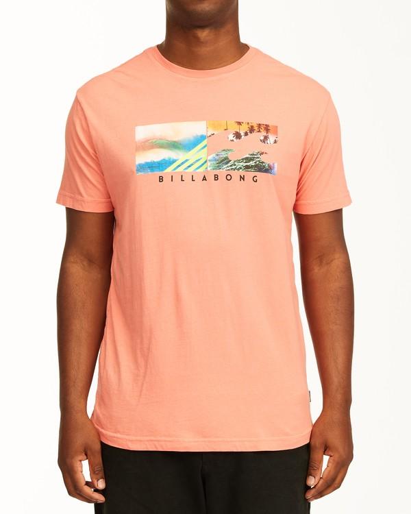 0 Inverse Photo Short Sleeve T-Shirt Orange ABYZT00657 Billabong