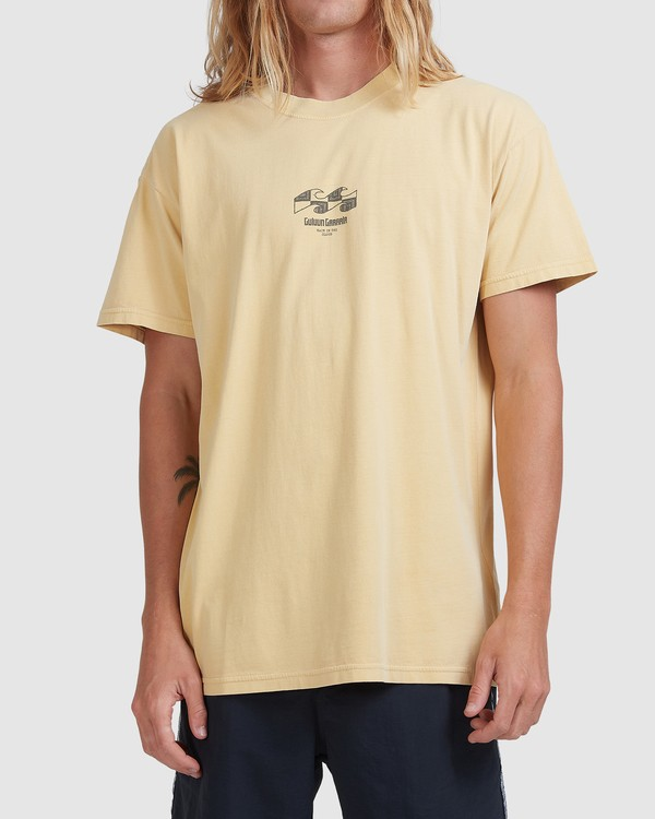0 RAIN IN THE CLOUD TEE Yellow ABYZT00696 Billabong