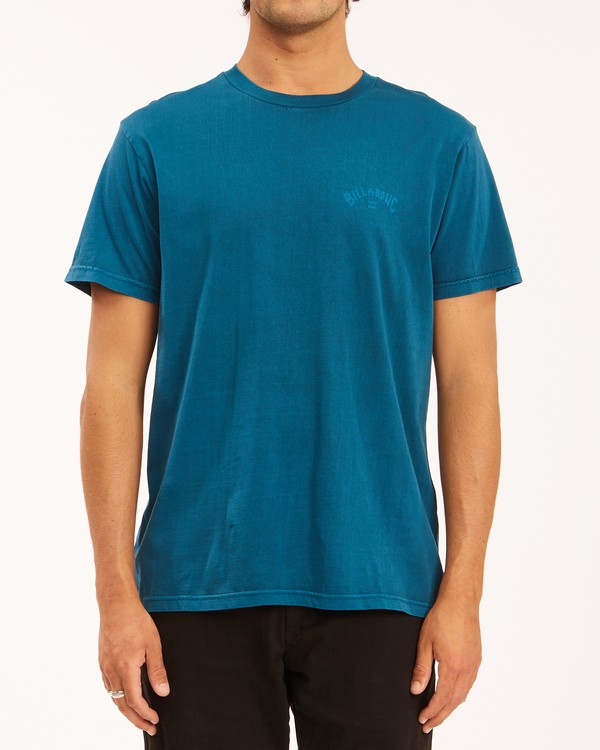 0 Arch Wave Washed Short Sleeve T-Shirt Blue ABYZT00757 Billabong