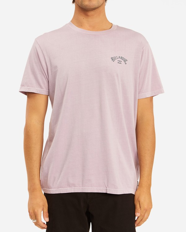 0 Arch Wave Washed Short Sleeve T-Shirt Purple ABYZT00757 Billabong