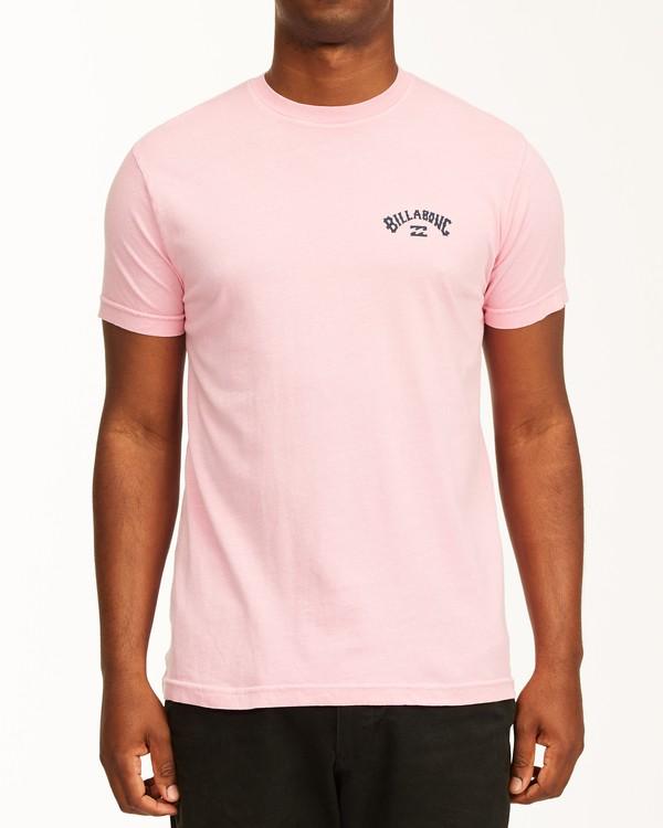 0 Arch Short Sleeve T-Shirt Pink ABYZT00758 Billabong