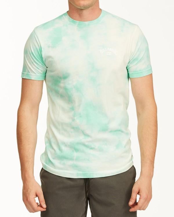 0 Tie Dye Arch Short Sleeve Tee Green ABYZT00760 Billabong