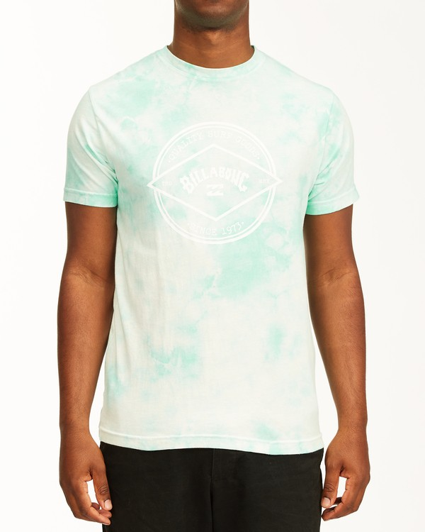 0 Tie Dye Rotor Arch Short Sleeve Tee Green ABYZT00761 Billabong