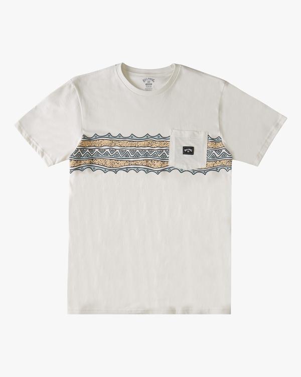 0 Halfrack Stripe Pocket T-Shirt White ABYZT00809 Billabong