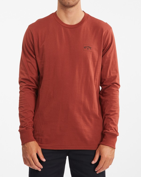 0 Stacked Arch Long Sleeve T-Shirt Red ABYZT00827 Billabong