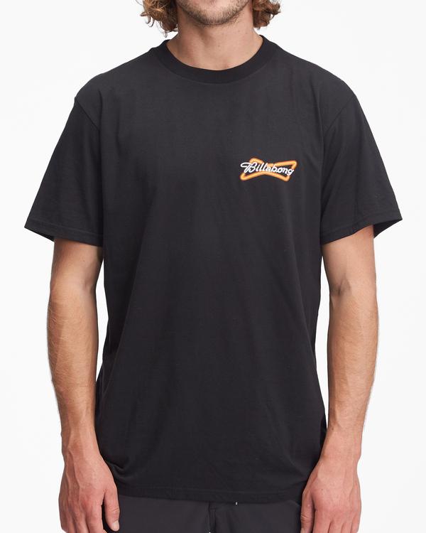 0 Budweiser Bow Neon Short Sleeve T-Shirt Black ABYZT01024 Billabong