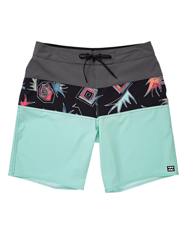 0 Boys' Tribong Pro Boardshorts Green B120TBTB Billabong