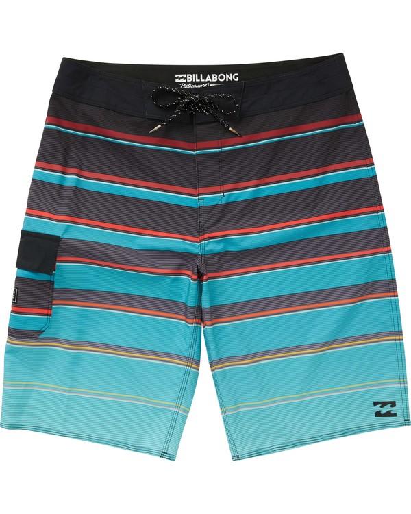 0 Boys' All Day X Stripe Boardshorts  B125NBAS Billabong