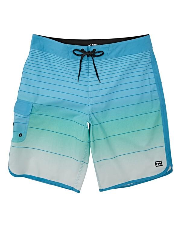 0 Boys' 73 Stripe Pro Boardshorts Blue B1271BST Billabong