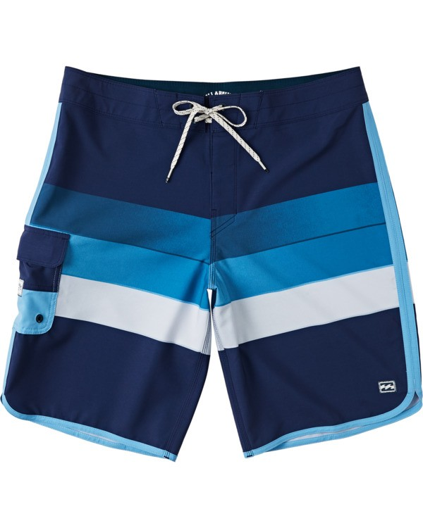 0 Boys' 73 Stripe Pro Boardshorts Blue B1271BST Billabong