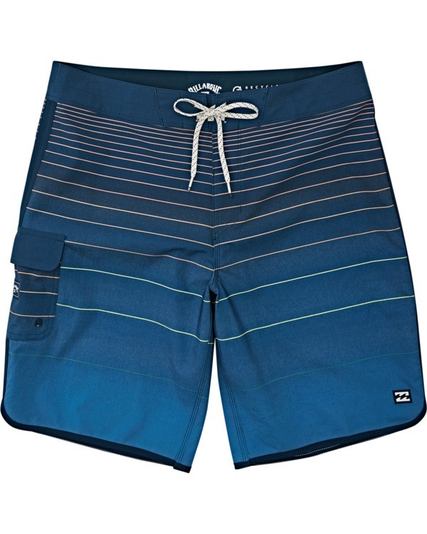0 Boys' 73 Stripe Pro Boardshorts Yellow B1271BST Billabong