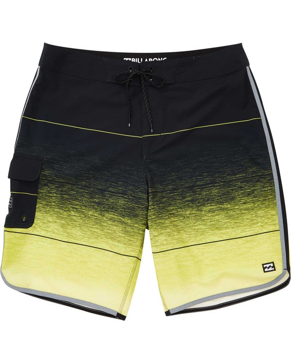 0 Boys' 73 Stripe Pro Boardshorts Yellow B127TBST Billabong