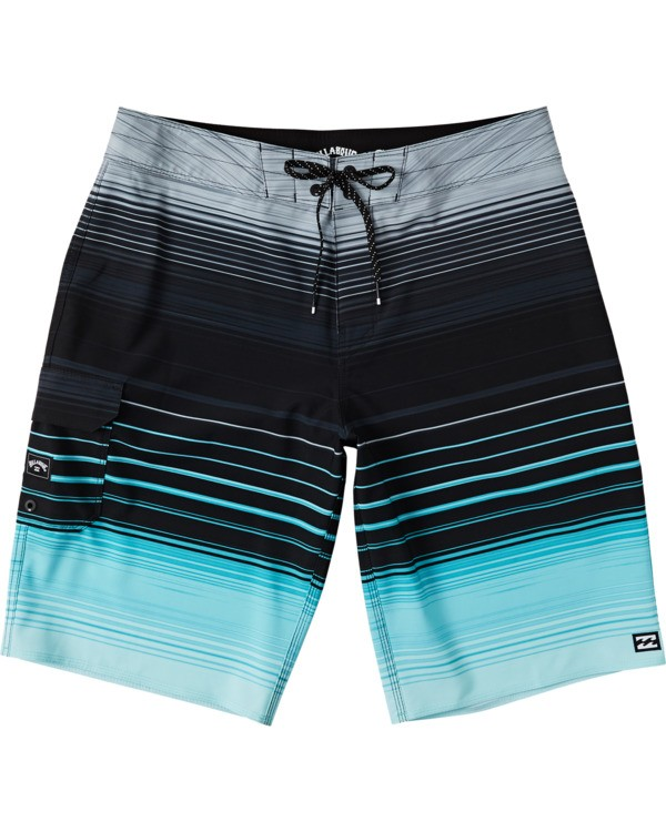 0 Boys' All Day Stripe Pro Boardshorts Green B1341BSP Billabong