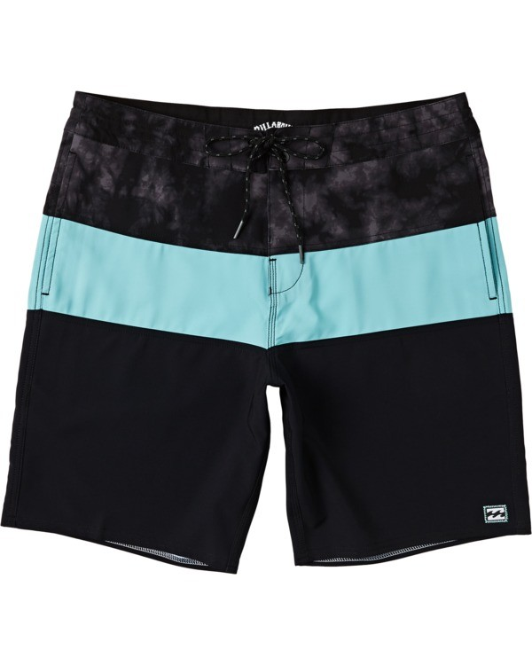 "0 Boys' Tribong Lo Tides Boardshorts 17"" Green B1371BTL Billabong"