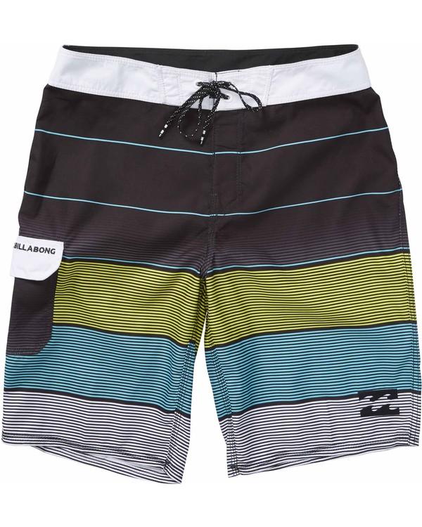 0 Boys' All Day OG Stripe Boardshorts  B160LASO Billabong